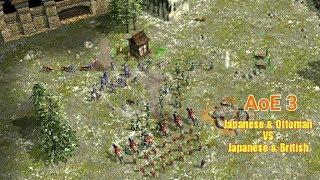 AoE 3: Online Multiplayer 2 VS 2 - Japanese Ottoman vs Japanese British