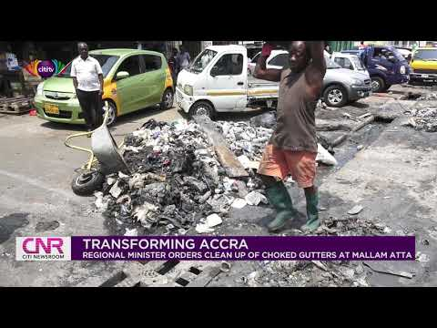 Mallam Atta: Greater Accra Regional Minister Henry Quartey orders cleanup of choked gutters