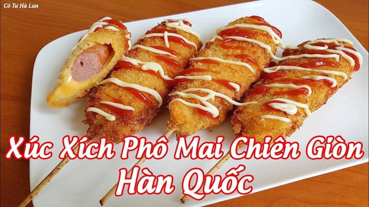 Cách Làm Món Phô Mai Bọc Xúc Xích Chiên Giòn Kiểu Hàn Quốc (Korean Hot Dogs) | Cô Tư Hà Lan
