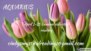 """AQUARIUS 1-15 APRIL """"AMAZING TURN AROUND WITH FINANCES AND TAKING HOLD OF NEW JOB OPPORTUNITIES"""""""