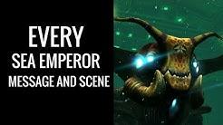 Subnautica: All Sea Emperor messages and scenes