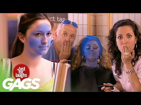 JFL Hidden Camera Pranks & Gags: Perfect Smurf Tan