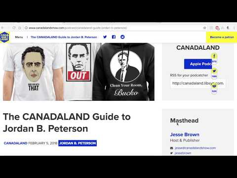 Response: Jesse Brown and CanadaLand on Jordan Peterson