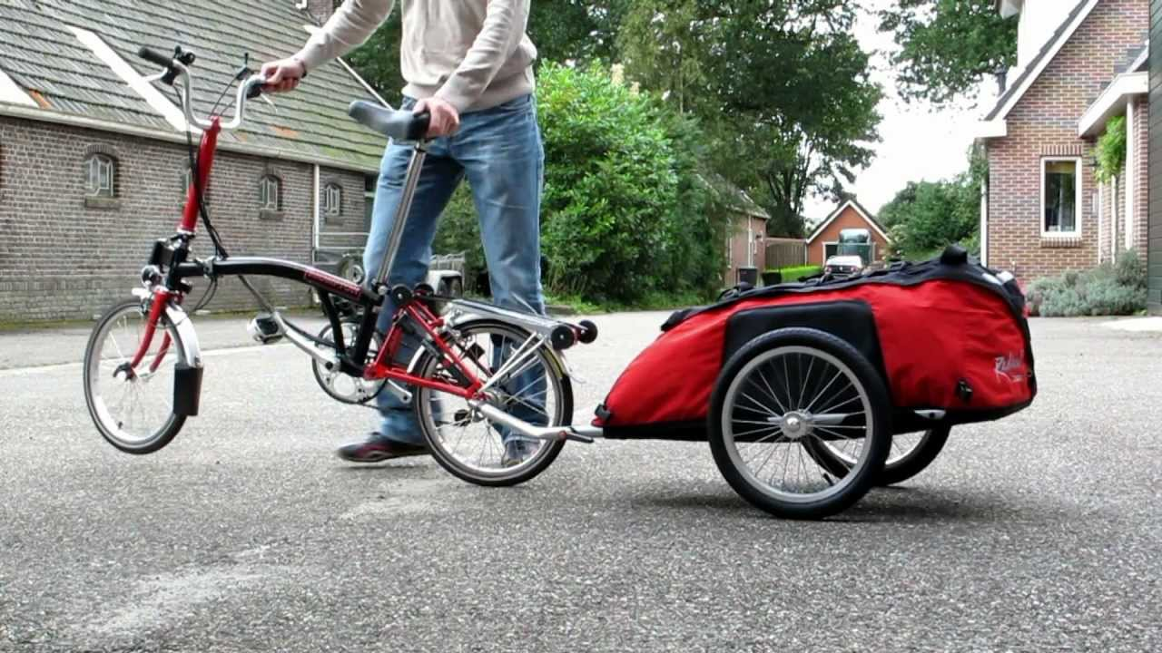 Brompton with Cyclone Bicycle Trailer