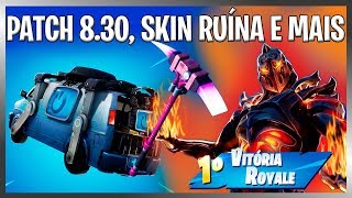 FORTNITE UPDATE 8.30! SKIN RUIN, NEW PICK, FREE DELTA WING AND WIN ROYALE