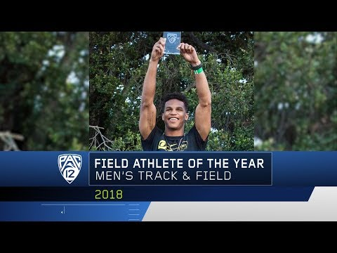 Pac-12 honors Oregon senior Damarcus Simpson and UO track coach Robert Johnson