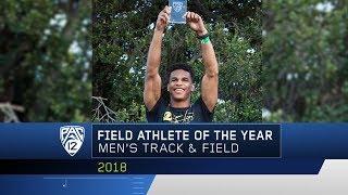 Oregon's Damarcus Simpson claims the 2018 Pac-12 Men's Field Athlet...