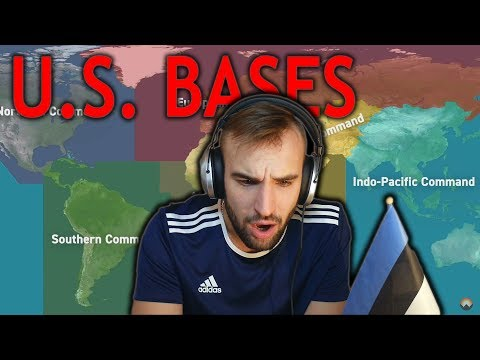 How Many Military Bases Does The U.S. Have? (Estonian Reacts)