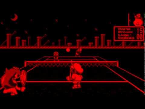 Mario's Tennis Game Sample - Virtual Boy