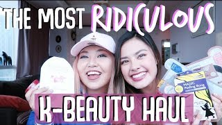 The Most RIDICULOUS Korean Beauty Haul Ever. feat. HeyitsFeiii