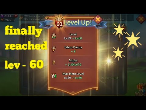 Lords Mobile - Reached At Level 60.