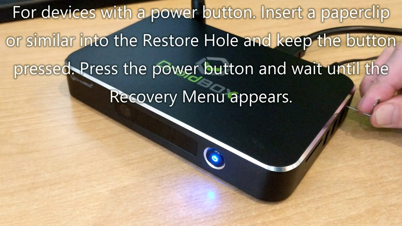 Accessing Your DroidBOX®'s Recovery Menu | DroiX® How To