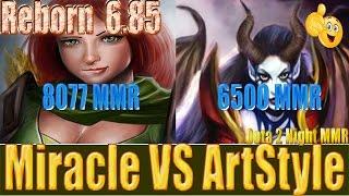 Dota 2 reborn 6 85  Miracle 8077 MMR WindRanger vs ArtStyle 6500 MMR Queen of Pain  Ranked Match Gam