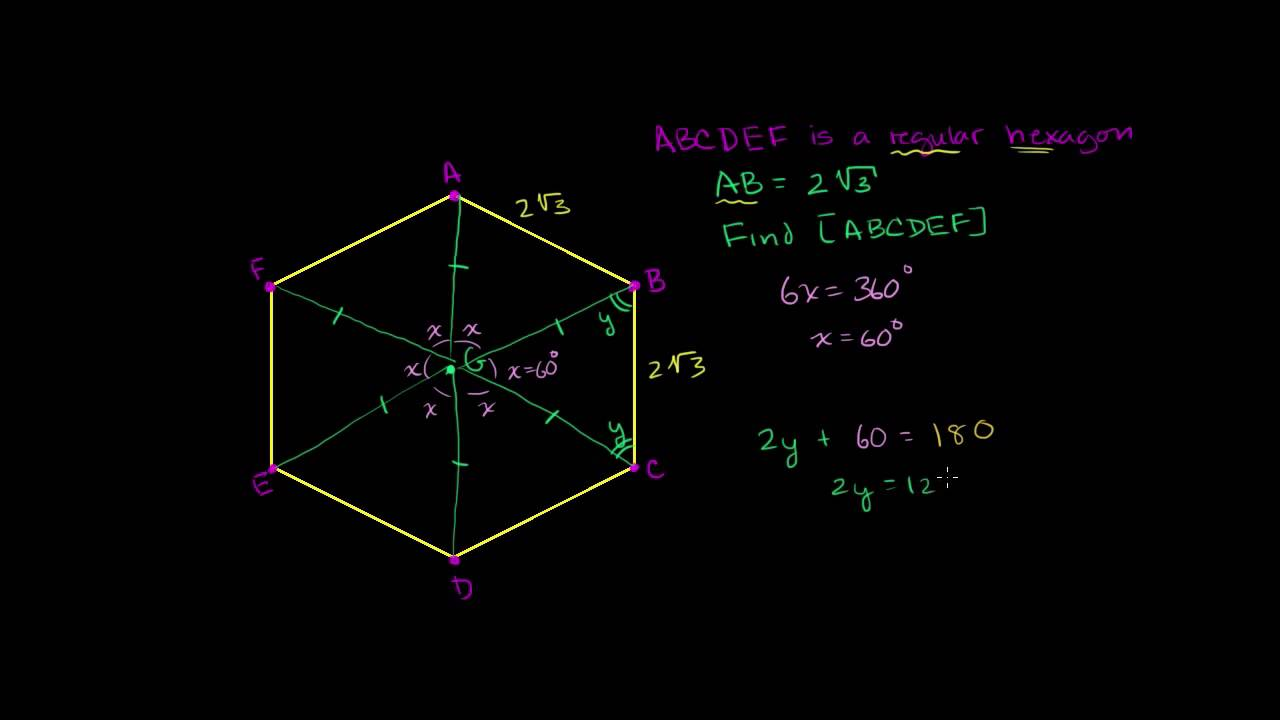 Arealet af en regulær heksagon (6-kant)