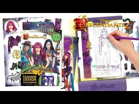 Disney Descendants 2 Fashion Design Tracing Light Table From Make It Real Youtube