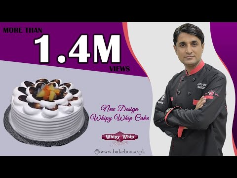 A new design of cake with whipy whip cream.