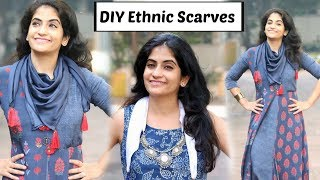 How to Make Ethnic Scarves/ Stoles for Traditional & Indo-Western Outfits | DIY Stoles