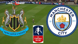Newcastle Vs Manchester City 2020   Quarterfinals Fa Cup   Full Match & Gameplay