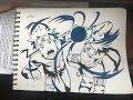 Drawing NARUTO Uzumaki - Shadow Clone Resengan