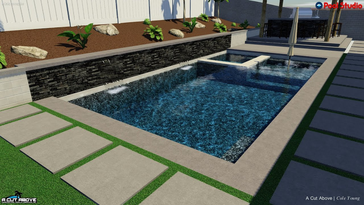 A cut above pools 3d pool studio design boulware youtube for Pool studio 3d design