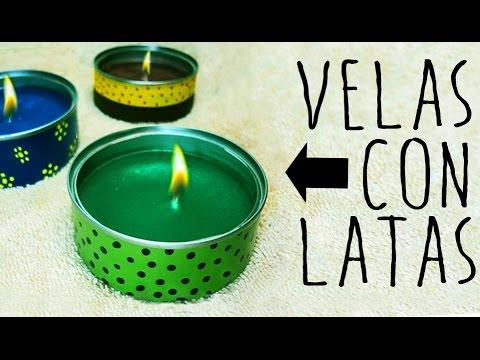 Velas con latas candles with aluminum cans youtube - Manualidades faciles con latas ...