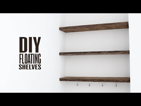 DIY Floating Shelves | Storing my YouTube Gear