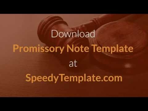 Promissory Note Template - How to Write a Promissory Note?