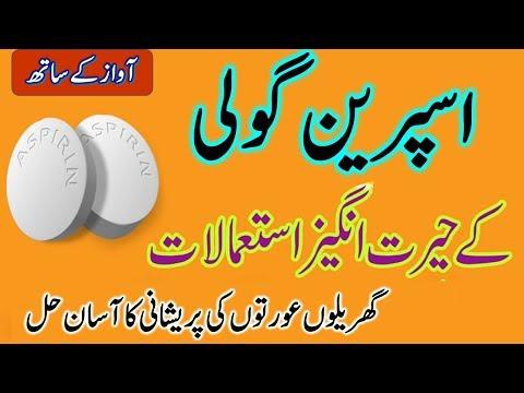 Uses Of Aspirin Tablet at Home In Urdu & Hindi.