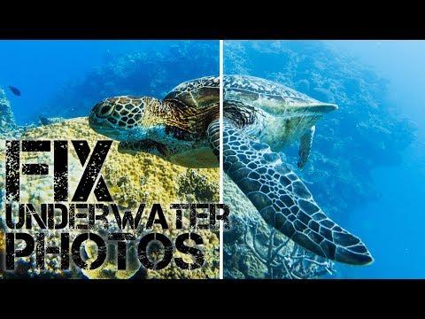 Fix Color Of Underwater GoPro Photos RAW/GPR