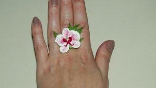 Кольцо из холодного фарфора с орхидеей. Как сделать(Красивые поделки из холодного фарфора. Делаем красивое кольцо с орхидеей. http://www.sdelaysam-svoimirukami.ru/1824-kolco-iz-holodnogo..., 2015-04-29T18:56:47.000Z)