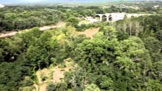 Ardèche   Vidéo aérienne du camping la Grand'Terre à Ruoms