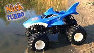 Hot Weels Большие Monster Truck Акула и Дракон. Nick Turbo обзор игрушечных машин для детей