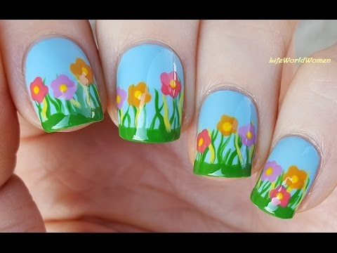 Easy FLOWER NAIL ART For EASTER & SPRING! - Easy FLOWER NAIL ART For EASTER & SPRING! - YouTube