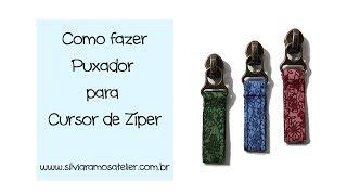 DIY - Como fazer Puxador para Cursor de Zíper by Silvia Ramos Atelier