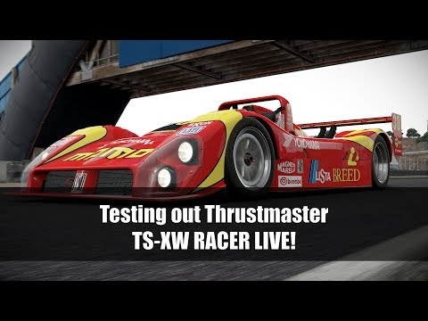 Thrustmaster TS-XW RACER Wheel - First Test LIVE