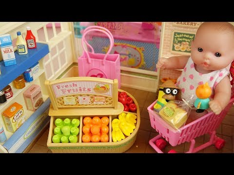 Thumbnail: Baby doli and fruit food shop baby doll toys play