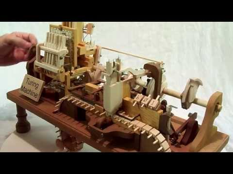 Mechanical Turing Machine in Wood