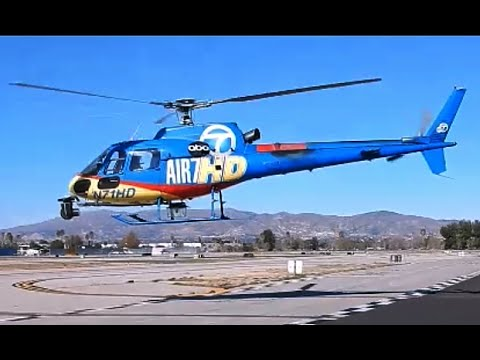 Air7HD ABC News Helicopter Eurocopter AS-350B-2 at Van Nuys ... on