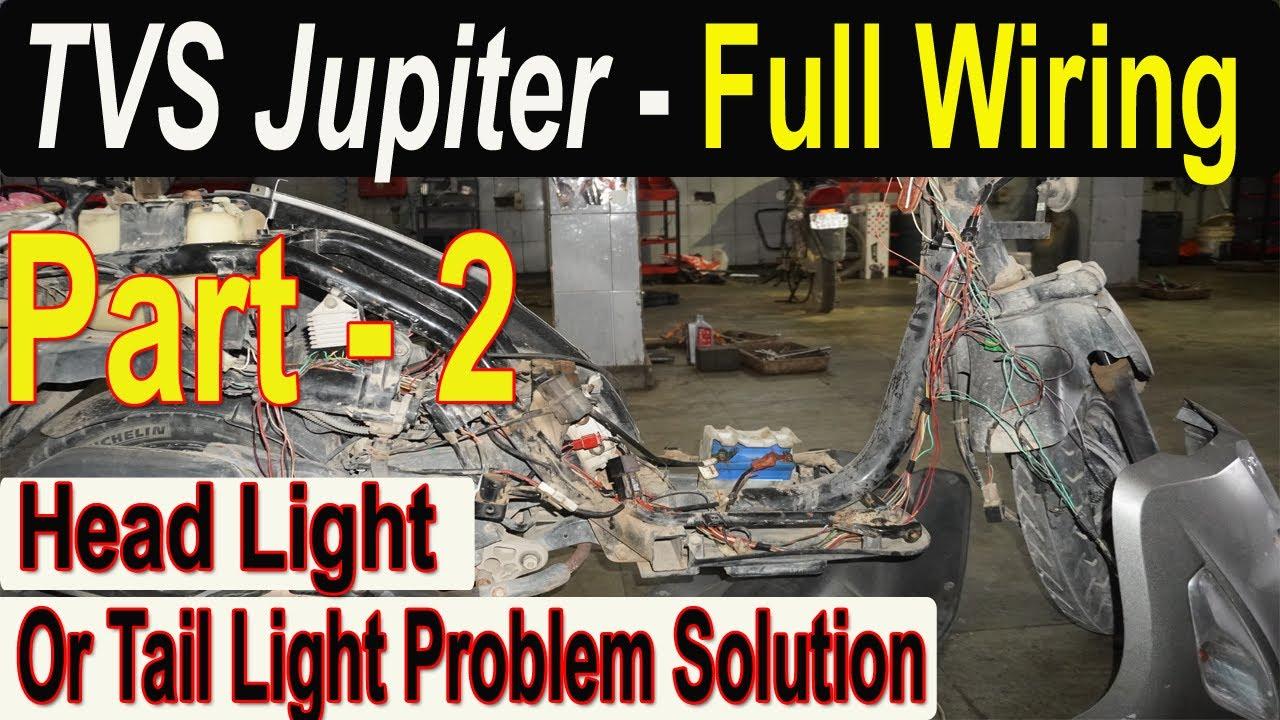 Tvs Jupiter Wiring Harness Full Details  Head Light  Tail