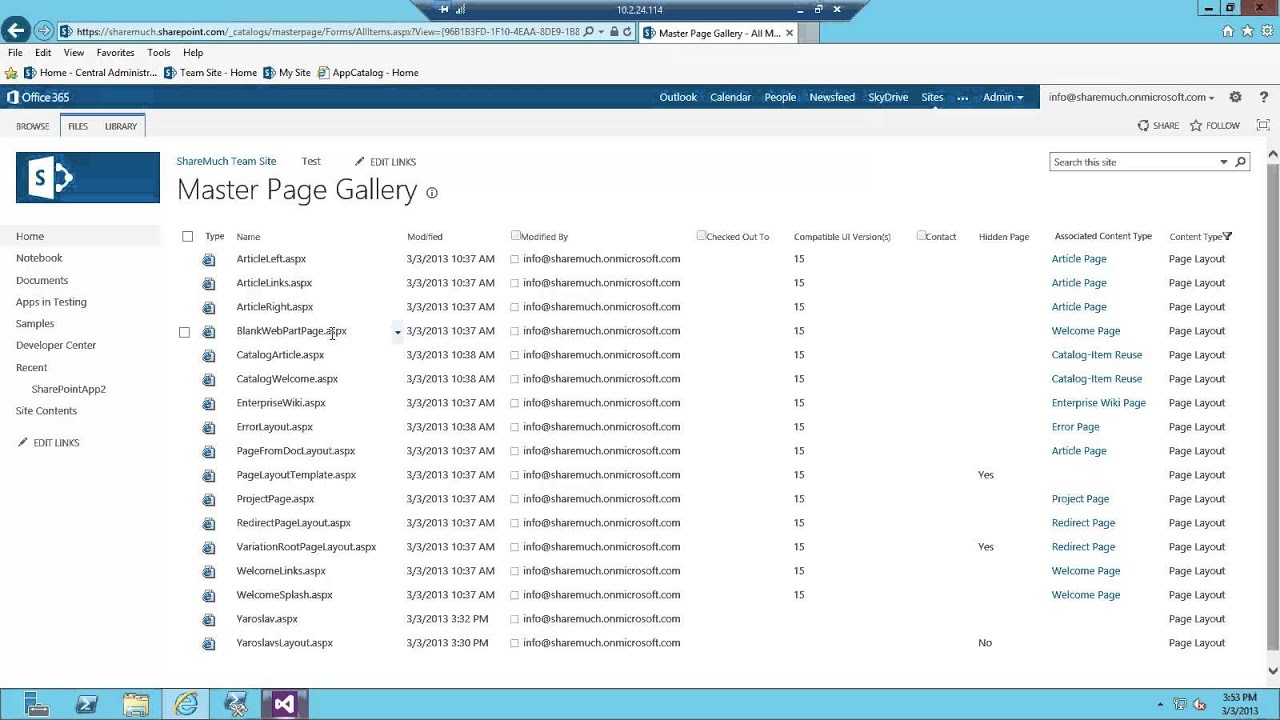 Provisioning page layouts and other files using SharePoint 2013 app ...