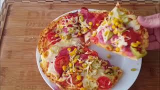 Bazlamadan Pratik Pizza / Pizza Tarifi / Farklı Yemek Tariflerim