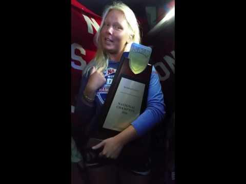 Keiser Women's Golf National Champions Running Man