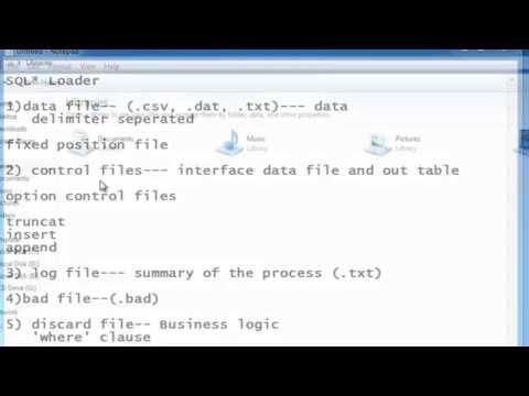 SQL: SQL* Loader Part-1