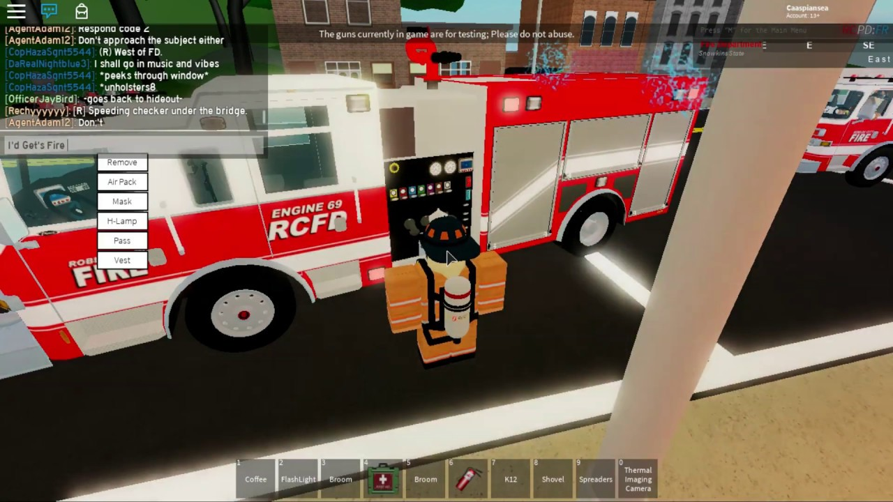 Being A Firefighter In Roblox Roblox Rcpd Fr As A Firefighter Episode 1 Youtube