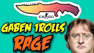 GABEN TROLLS - FUNNY AND RAGE MONTAGE! CS:GO CASE OPENING