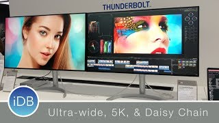 LG Thunderbolt 3 Displays At CES: 5K, 21:9 Ultra Wide, & Daisy Chaining