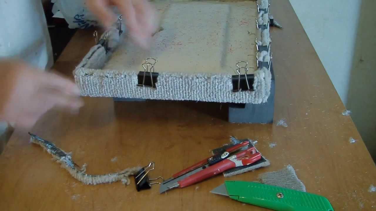 How To Carpet A Fiberglass Boat Door Youtube