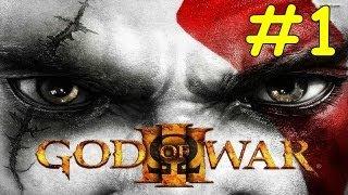 God Of War 3 Walkthrough - Part 1 Gaia Mount Olympus Boss Leviathan