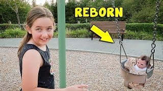 Newborn Reborn Baby Playing at the Park | The Patsy Family