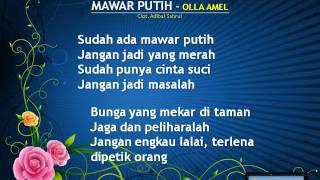 MAWAR PUTIH   OLLA AMEL Song Lyric By Laberna Goyang Jempol